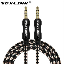 VOXLINK 1M 3FT Aux Cable Nylon Aluminum Alloy Male to Male 3.5mm Jack Audio Cable For Mobile Phone PC iPad Headphone Car Speaker