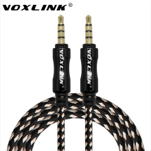 VOXLINK 1M 3FT Aux Cable Nylon Aluminum Alloy Male to Male 3.5mm Jack Audio Cable For Mobile Phone PC iPad Headphone Car Speaker(China)