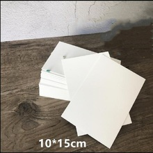 100X 300grams - 400 grams Paper Blank Matt Postcards White / Black / Kraft Original Color Custom LOGO Printed accept(China)