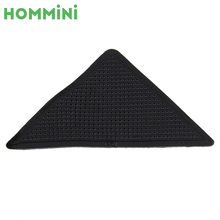 HOMMINI 4 Pcs Anti Skid Silicone Rug Carpet Mat Grippers Non-slip Washable Reusable Fixed Carpet Grip Pads For Bath Living Room(China)