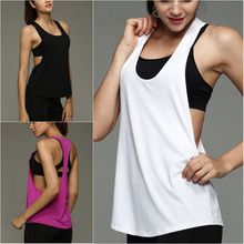 Women's Sexy Side Open Sleeveless Sport Tank Top Sexy Women Tank Tops Quick Dry Loose Gym Fitness Yoga Sleeveless Vest Singlet