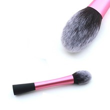 Professional Powder Blush Brushes Facial Beauty Foundation Makeup Brushes Makeup Tools Pink Metal Handle Flame Shape Brush