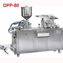 Shipping by sea 220V / 380V DPP-80 liquid blister packing machine Flat plate Vacuum Food Sealers 30-80 mm (customizable)(China)