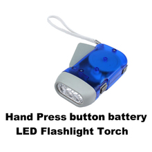 Hand Press Flashlight Torch No Battery 3 LED New EMS DHL  New Arrival Promotion