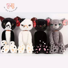 40CM Stuffed Cats Plush Toys Japan Scratch Kitten Peluche Sharp Paw Neko Soft Toy Children Kids Novel Gifts
