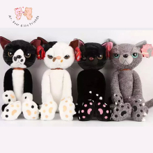 40CM Stuffed Cats Plush Toys Japan Scratch Kitten Peluche Sharp Paw Neko Soft Toy Children Kids Novel Gifts(China)
