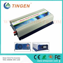 220V 48V Grid Tie Inverter 2KW Micro Inverter Grid Tie Solar With LCD Display DC 45V-90V Input(China)
