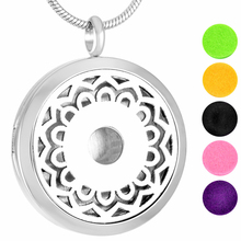 MJP0021 Blooming Flower Perfume Lockts, Aromatherapy Diffuser Essential Oil Necklace Young Living