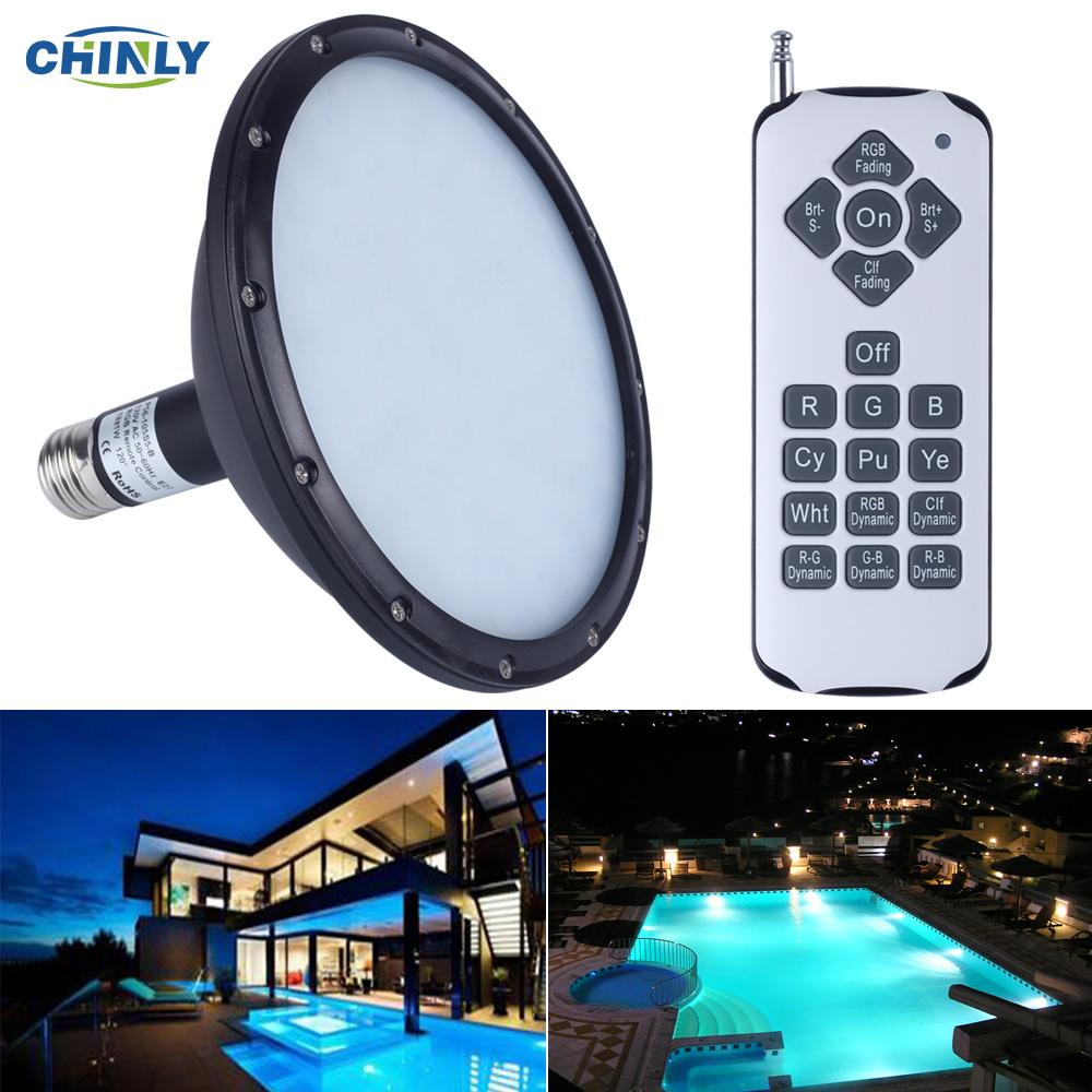 AC120V E27 18W RGB Swimming LED Pool Lights underwater lights for Pentair Hayward Light Fixture Energy Saving 95%<br><br>Aliexpress