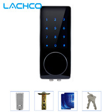 LACHCO Electronic Door Lock Password, 2 Cards, 2 Mechanical Keys Touch Screen Keypad Digital Code Lock Smart Entry L16076BS(China)
