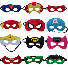 10pc/set Super Hero Mask Children's Day Gift Super Man Captain America Iron Man Batman Mask Kids Birthday Cosplay Party Supplies(China)