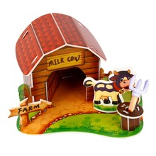 DIY 3DPaper Puzzle Handmade Assembled Cartoon Pet Animal House Model Children's Kids Toy Birthday Gift Creative Puzzles Hot Sell(China)
