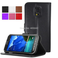 PU Flip Leather Wallet Case Stand Cover For Samsung Galaxy S5 Active G870(China)