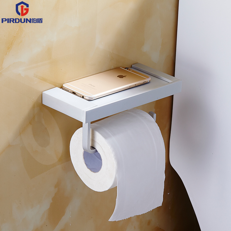 Bathroom accessories space aluminum tissue box paper towel holder bathroom mobile phone<br><br>Aliexpress