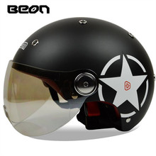 BEON fashion motorcycle electric car helmet summer half helmet men and women can be four seasons versatile optional B-103(China)