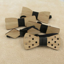Bamboo Wood Bow Tie For Men Marry Groomsmen Wedding Party Butterfly Cravats Man Accessory(China)