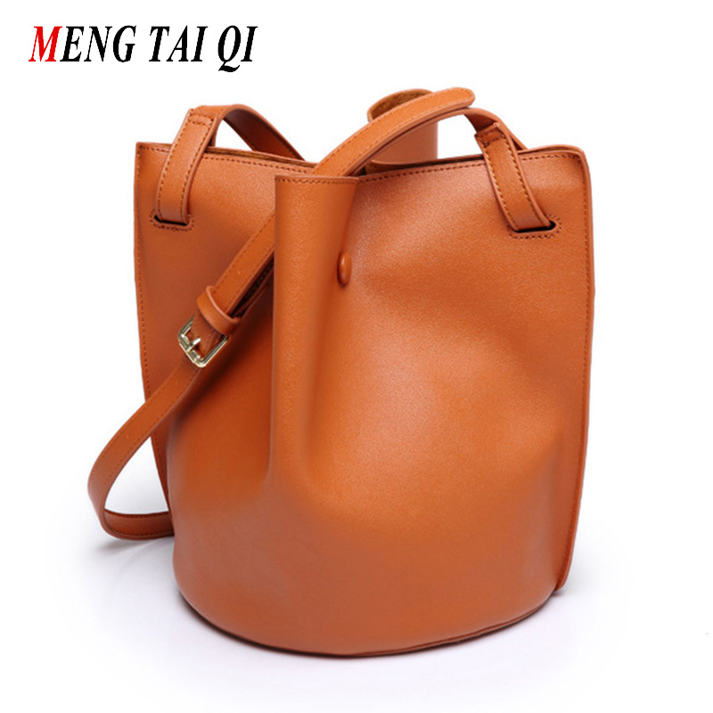 Women messenger bags small female Bucket bag famous brands ladies leather 2017 solid color shoulder bags women bag brands 4<br><br>Aliexpress