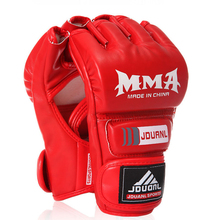 Buy 1 PAIR Hot Selling MMA Muay Thai Gym PU Leather Punching Bag Half Mitt Training Sparring Kick Boxing Gloves Sport Safety OEM for $11.92 in AliExpress store