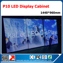 TEEHO 1440*960mm outdoor p10 led display board 160*160mm RGB full color p10 led panels standard open-front display cabinet(China)