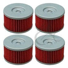 4 PCS Oil Filters For SUZUKI DR600 DR650S DR650SE DR750 DR800 SP500 SP600 GSX750 LS650 Savage