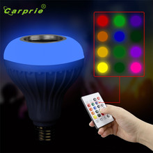 E27 Music Led Light Bulb with Bluetooth Speaker RGB Built-in Audio Speaker Stage Lighting Effect L70714(China)