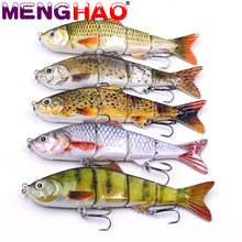 Buy 12cm 16g Fishing 4 Segments Wobblers Swimbait Crankbait Fishing Lure Bait Artificial Hooks Hard Fish Sport Lure Tool for $3.44 in AliExpress store