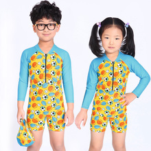 Children Swimwear One Piece Long Sleeve For Girl Boys Diving Suit Swimsuits Bathing Suits Rash Guards Beach Wear