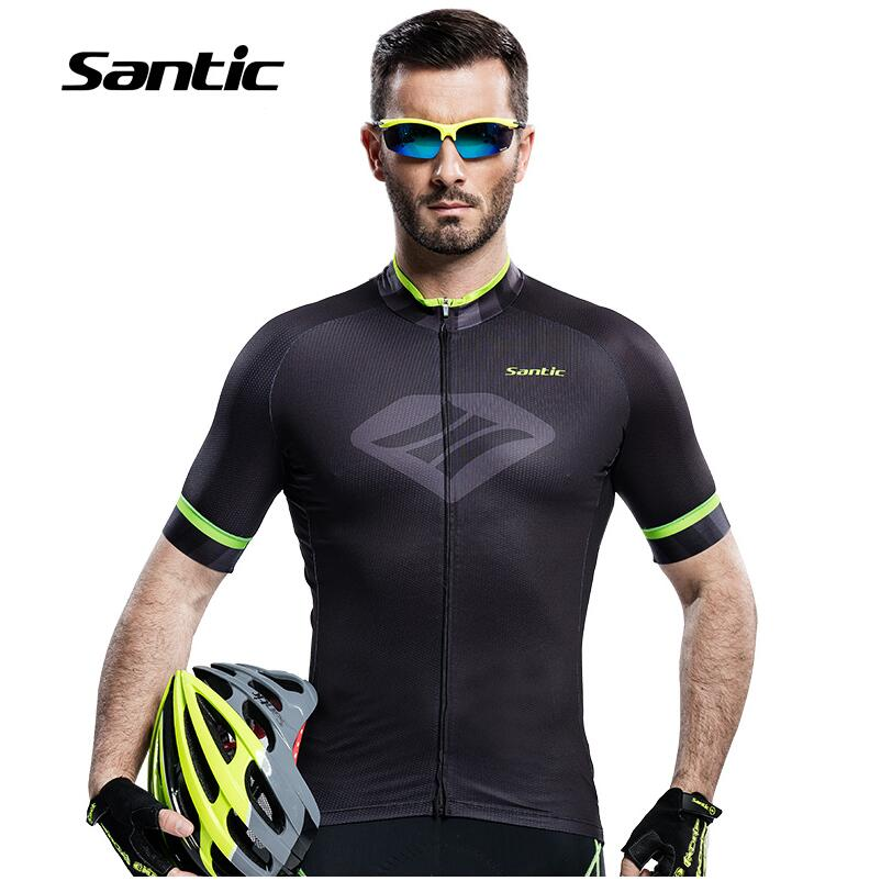 2017 Cycling Jersey Short Sleeve Top Summer Breathable Top Quality MTB Bicycle jersey Short sleeve Jersey Top Santic M6C02088H<br>