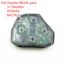 car key MDL 841TA 4 button remote control 433mhz for toyota hilux yaris thanland vios