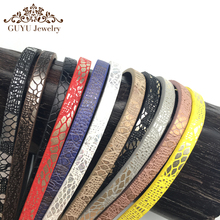 GUFEATHER 5MM Lace leather cord/jewelry accessories/jewelry findings/cords/diy accessories