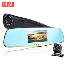 dual lens car camera rearview mirror cars dvr auto  dvrs recorder video registrator full hd1080p night vision dash cam camcorder
