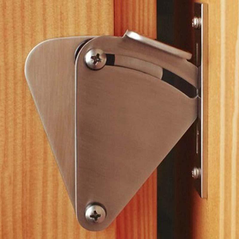 Stainless steel sliding barn door lock for 35/45mm...