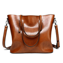 DIDA BEAR Brand 2017 New Women Leather Handbags Lady Large Tote Bag Female Shoulder Bags Bolsas Femininas Sac A Main Brown Black