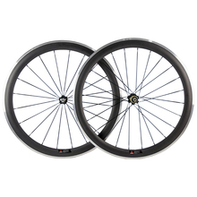 50mm Carbon Wheels Clincher With Alloy Brake Surface R36 Hub Road Bike Carbon Wheelset Aluminum Braking Surface(China)
