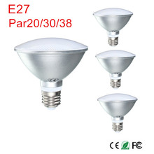 E27 9W/12W/15W PAR20 PAR30 PAR38 Waterproof IP65 LED Spot Light Bulb Lamp Indoor Lighting Dimmable AC85-265V Free shipping