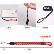 wrist hand mobile cell phone chain straps keychain Charm Cords DIY Hang Rope Lanyard For iphone 5/5s/se/6/6s/7 Plus