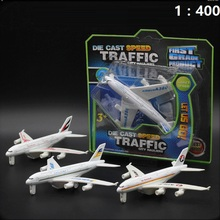 1:400 Alloy Metal Emirates Airlines for A380 Airplane Model Pull Back Airbus A380 Airways Plane Model 14cm Aircarft Toys Gift