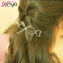 MWsonya Love Heart Hair Sticks for Women Romantic Hair Jewelry Gold Silver Color Hair Decoration A1200