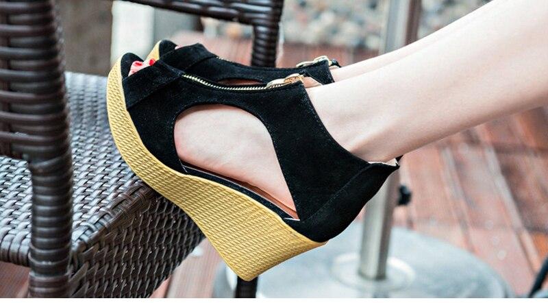 2ff2787eceb VTOTA Summer Shoes Woman Platform Sandals Women Soft Leather Casual ...