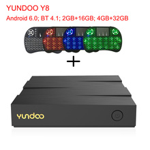 YUNDOO Y8 TV Box Bluetooth 4.1 ARM Cortex-A72+ARM Cortex-A53 CPU 64 bit Android 6.0 2GB 16GB 4GB 32GB Media Player Set Top Box(China)