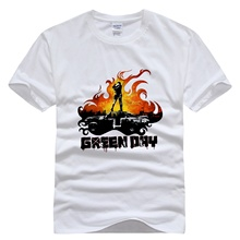 Green Day short sleeve  men t shirt Rock Star band music rock and roll  fashion homme 100% cotton