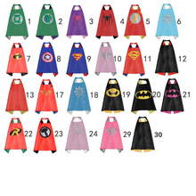 Kids capes double side Superhero capes Hulk Batman superman darth vader Robin Thor black cape super hero Children Party Costumes(China)