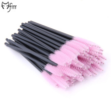 FM 50PCS/pack Disposable Eyelash Brush Mascara Wands Applicator Wand Brushes Eyelash Comb Brushes Spoolers Makeup Tool Kit Hot(China)