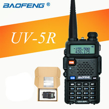 Baofeng uv-5r uv5r walkie talkie uhf vhf dual band cb Dual Display Flashlight 128CH VOX FM Radio Transceiver for Hunting radio