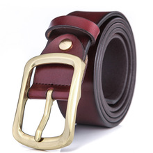 Fun Orange Fashion Men Belts Luxury Designer Top Quality Genuine Leather Belt Man Cow Skin Strap Jeans Girdle for Male