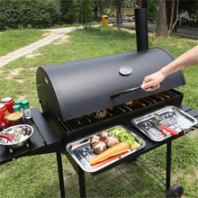 courtyard smoked large size charcoal grills/thickening outdoor barbecue braised baked shelf BBQ charcoal stove