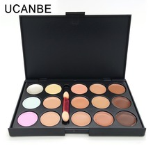 Professional 15 Colors Camouflage Concealer Palette with Brush Contour Palette Face Cream Care Camouflage Makeup Base Cosmetics