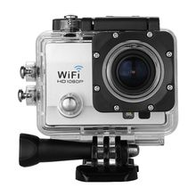 "Q5 12MP 2.0"" HD  WiFi Video DV Action Sports Camera -- Night Vision 30M Waterproof Portable PC Camera 1080P 170 Degree  (Silver)"