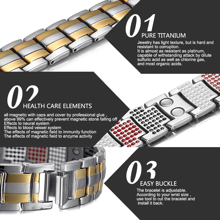 silver gold Titanium Bracelets (4)