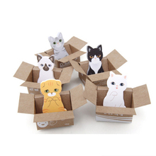 Creative Carton cat Paper Memo Pad/ Cartoon Sticker Post Sticky Notes Notepad N Times message Wall stickers Fridge Sticker